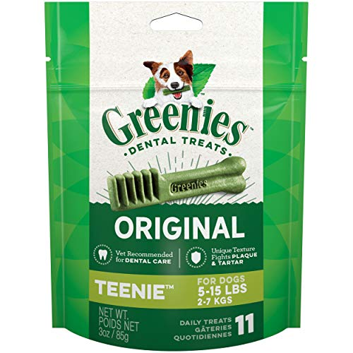 Greenies Original Dental Teenie Treats for Dogs 5-15 Pounds 11 Cou