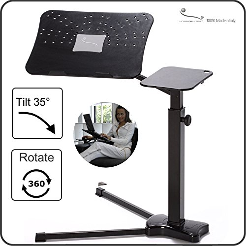 Lounge-Book Black - Ergonomic Laptop Support up to 17-18 inchs, Style and Design at Home for Remote Working.