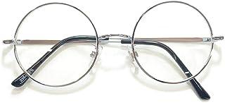 MERRY PLEASURE (メリープレジャー) 伊達メガネ サングラス ライトカラーレンズ カラーレンズサングラス ボストン ラウンド 丸メガネ 丸型 薄い色 メンズ レディース UVカット