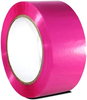 T.R.U. OPP-20C Pink Carton Sealing Packaging Tape 2 in. Wide x 110 yds. (2 mils Thick)
