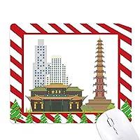 中国のパターンチンヤン宮殿建築 ゴムクリスマスキャンディマウスパッド