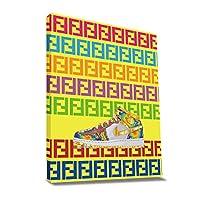 ARTREX Sneaker A キャンバス ポスター S M L XL インテリアアート (CANVASアート, Medium)