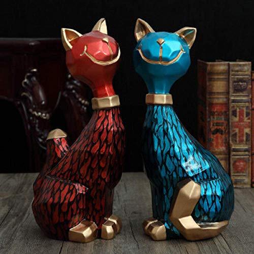 JKCKHA Decoraciones del Arte del Arte la Creatividad en la Caja del televisor del salón Regalo Animales Dormitorio Matrimonio Gatos Adornos 1