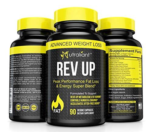 #1 Fat Burner Pills For Men &Amp; Women Thermogenic Supplement + Glucomannan, Apple Cider Vinegar, Acetyl L-Carnitine, Green Tea + Best Weight Loss Appetite Suppressant, Detox, Energy + Belly Fat Burners