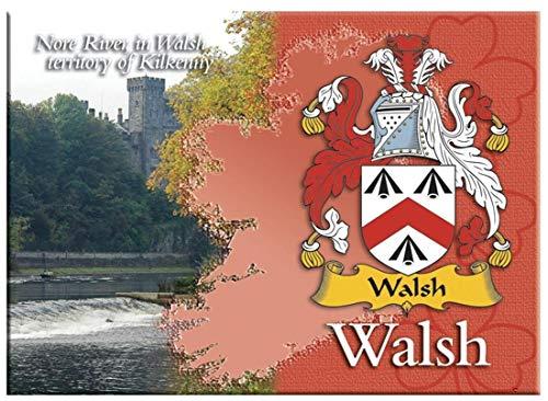 iLuv Walsh Irlandesi Cognome Souvenir Metallico Immagine Calamita da Frigo