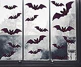 UMIPUBO Halloween Pegatinas de Ventana Murciélagos Pegatinas Realista Halloween Decoración Pared Pegatinas Props (A)
