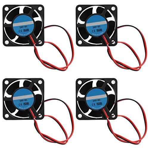 Pwshymi Diseño de Ventilador único Ventilador de refrigeración de 4 Piezas Módulo 4020 Ventilador de refrigeración sin escobillas Tamaño pequeño para Mejorar el Flujo de Aire Enfriar la CPU