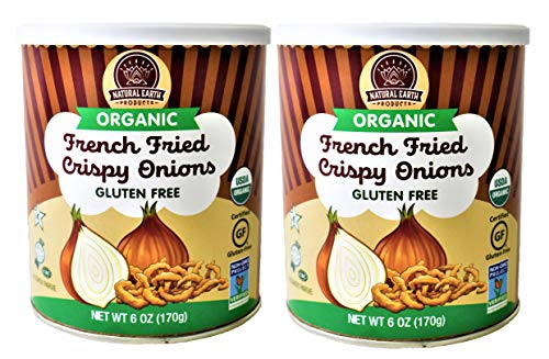 Organic French Fried Crispy Onions - Kosher, Vegan, Gluten-Free, NON-GMO, USDA Organic - 6 Oz (2 Pack Total of 12 Oz)