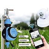 ZDYLM-Y Programador de Riego Automatico, WiFi Móvil Remoto Controlador de riego del jardín, para la Planta de Invernadero Inicio Jardín