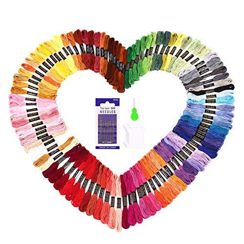 SOLEDI Hilo de Punto de Cruz 100 Tipos de Colores Bordados H