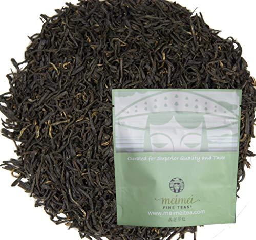 MeiMei Fine Teas 2021 Top Grade Keemun Gongfu Black Tea - Chinese Black Tea Loose Leaf Qimen Hong Cha - Single Origin High Mountain Ecologically Grown - Farm to Cup Floral Caramel Fruity (50 grams)
