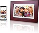 eco4life 8' WiFi Family Sharing Photo Frame Ultra HD IPS Display, Cherry Color Wooden Frame, 2G Lifetime Cloud...