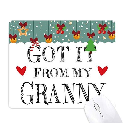 kreeg het van mijn oma oma aanwezig muis pad spel office mat kerst rubber pad
