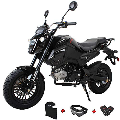 X-PRO 125cc Vader Adult Motorcycle Gas Motorcycle Dirt Motorcycle Street Bike Motorcycle Bike (Black)