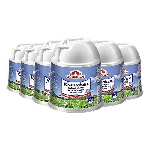Südmilch Kännchen Teilentrahmte Kondensmilch 4% Fett, 200g 6er Pack