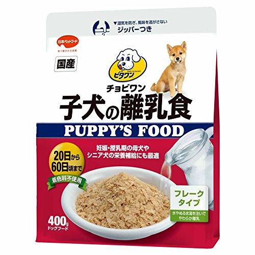 ビタワン 子犬の離乳食 【国産】【簡単】【使いやすい】【フレーク】 イエロー 犬 400g
