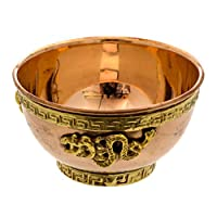 Alternative Imagination Dragon Copper Offering Bowl for Altar Use, Rituals, Incense, Smudging, Decoration, and More