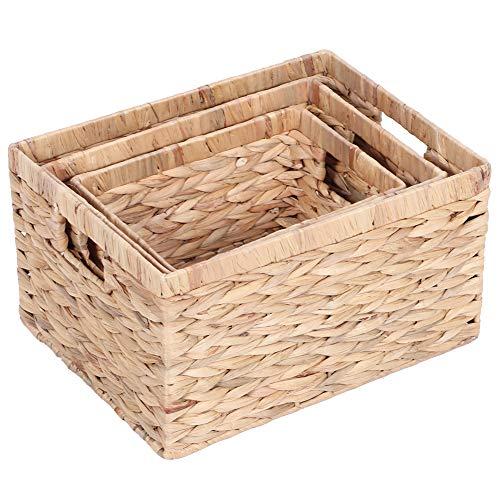 Jacinto caja de almacenamiento cestas tejida a mano decoración multiusos del envase para la decoración del hogar