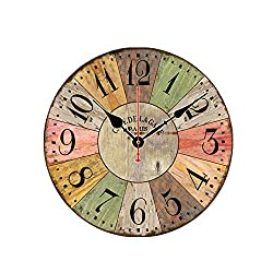 Bvnivcxzem Wall Clocks Clock Digital Wall Clock Wooden Wall Clock Wall Clocks for Bedrooms Radio Controlled Wall Clock D, One Size