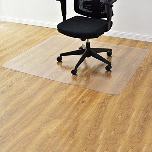 RELAX4LIFE Bodenschutzmatte, Bodenmatte, Bürostuhlunterlage geruchsfrei, Unterlegmatte, Bodenschutz Büro Stuhl, Boden Schutz Matte, Stuhlmatte Transparent, PVC-Unterlage (150 x 120 cm)
