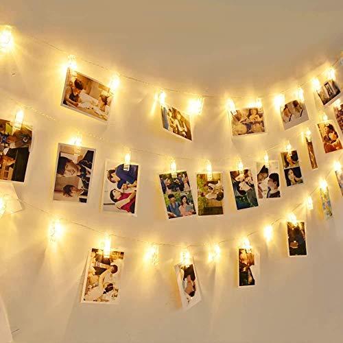 1.2M 10 LED Photo String Lights Camera Fairy Lights met clip voor de decoratie van de slaapkamer, voor het ophangen van kaarten en kunstwerken