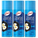 Crisco Original No-Stick Cooking Spray - 100% Canola Oil - For Fat Free Cooking - 0g Trans Fat Per...