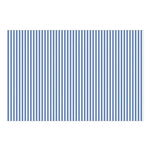 Papel pintado Premium–No. yk44rayas azul Blanco–Mural Wide