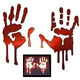 customtaylor33High Intensität Grade Reflektierende Bloody/Tropfendes Hände Decals für Helme,...