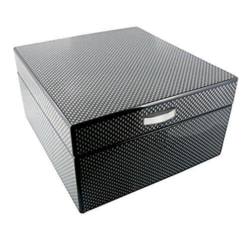 BULLONGÈ Uhrenbox Four Carbon zur Lagerung von 4 Armbanduhren