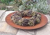 Edelrost Schale Teller rund Blumen Pflanzen Garten-Deko rostig