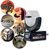 Projectables Mandalorian LED Night Light, 6, Star Wars, Plug-in, Dusk to Dawn, UL-Listed, Image on Ceiling, Wall, or Floor, Ideal for Bedroom, Nursery, Bathroom, 53216