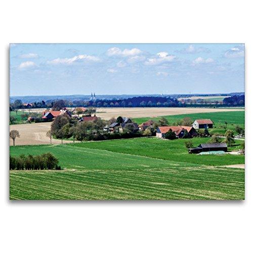 CALVENDO Premium Textil-Leinwand 120 x 80 cm Quer-Format In der Nähe von Sonsbeck, Leinwanddruck von Thomas Becker
