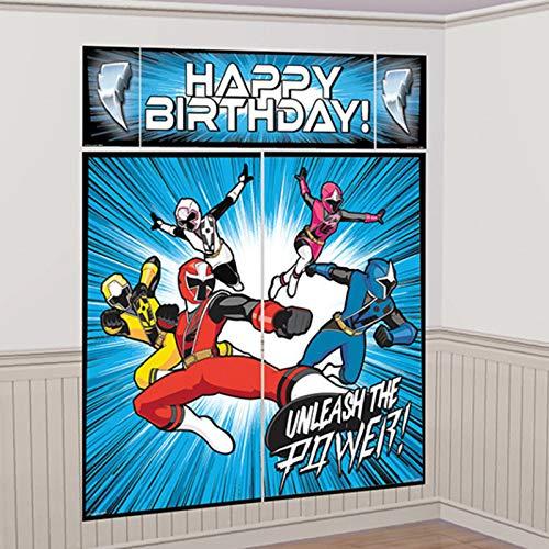 Power Rangers Ninja Steel - Juego de decoración para póster de pared (5 unidades)