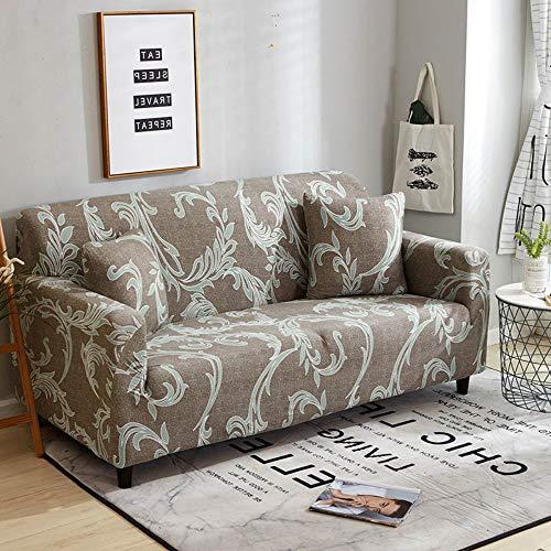WUFANGFF Sofa-plaid sofa - beschermhoes vaste wrap all-inclusive anti-slip snit elastische volledige hoekbank afdekking L-vormige bank 1/2/3/4-zits 4 Sitz (235-300 cm)