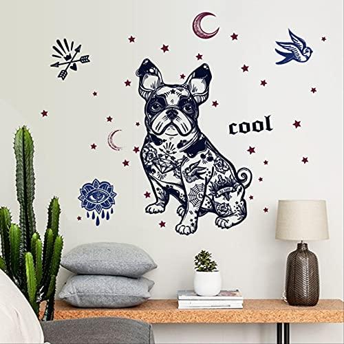 Pegatina de pared con patrón pintado a mano, pegatinas de papel tapiz de PVC respetuosas con el medio ambiente, decoración de paisajismo extraíble autoadhesiva