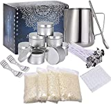 soy wax candle making kit, candle wicks stickers for beginner, window-pick diy bean candle making