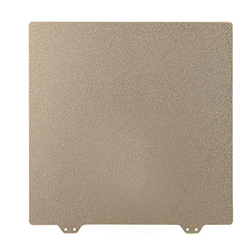 Annadue 235mm Magnetic Sticker B Side + Double Layer Textured PEI Powder Steel Plate for 3D Printer, Compatibility PLA, ABS, PETG, TPU, PVA, etc. Material.