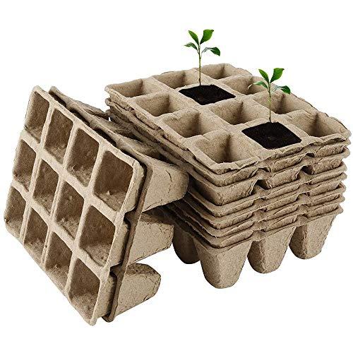 10 macetas de turba para semillas biodegradables, macetas para semilleros, macetas para plantas, flores y verduras.