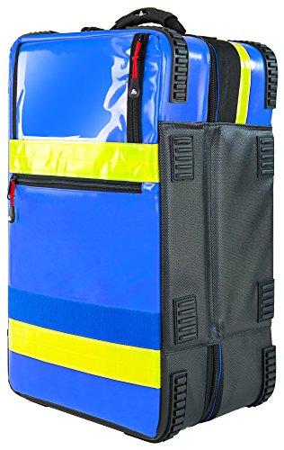 PREMIUM Notfallrucksack X1 YELLOW PLANE 52 x 30 x 25 cm 39 L, Farbe:Blau