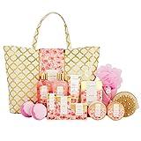 Spa Luxetique Coffret de Bain, Coffret Cadeau pour Femme, 15 Pièces, Parfum de Rose, Cadeau de Noël et d'Anniversaire