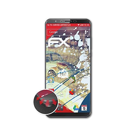 atFoliX Anti-Choque Lámina Protectora de Pantalla Compatible con Cubot X18 Plus Antichoque Película Protectora, antirreflectante y Flexible FX Película Protectora (3X)