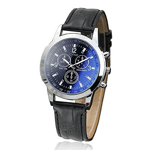 Uhren Herren Quarzuhr Stunden Sport Quarz Armbanduhr Uhr Leder Uhr Analoge Bewegungs Armbanduhr Strick Uhrenarmband Watch,ABsoar