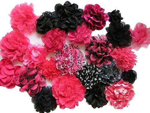 Yycraft Fleur en mousseline pour Ornements de couture, bébé fille Bandeau Cheveux nœuds Craft, 2\