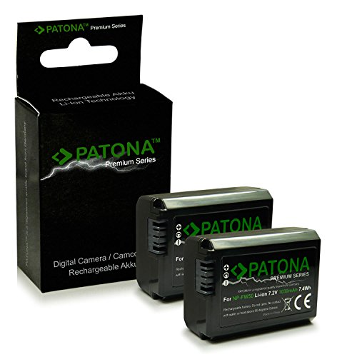 PATONA 2X Premium Bateria NP-FW50 Compatible con Sony NEX-3 NEX-5 NEX-6 NEX-7 NEX-F3 NEX A33 A55