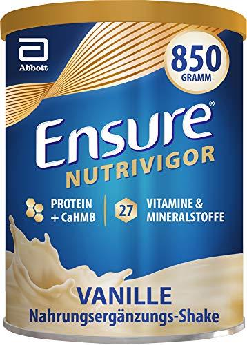 Ensure NutriVigor Vanille – Nahrungsergänzungspulver mit Proteinen – Gluten- und laktosefrei – 1 x 850 g