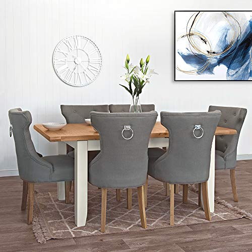 The Furniture Outlet Hampshire Ivory Medium Extending Table (Table Only)
