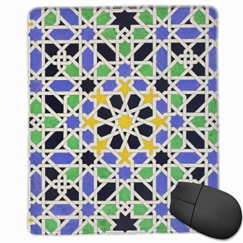 Gaming Mouse Pad, personalisierte benutzerdefinierte Maus Padnon-Slip Gummi Gaming Mouse Pad, bleiben Sie positiv, arbeiten Sie hart und lassen Sie es geschehen Mosaik-Pflaster-in-der-Alhambra