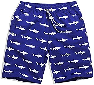 BEESCLOVER Shark Printing Men's Swimming Trunks for Bathing Men Beachwear Swimwear Men Swim Shorts Swimming Trunks Shorts Swimsuit