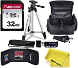 Camera Accessory Bundle Kit Works with Deluxe Camera Accessories Kit for Canon, Nikon, Sony, Panasonic DSLR Cameras - Includes Camera Bag, 50 inch Tripod, SDHC 32GB Card, Card Reader, Holder, Cloth.