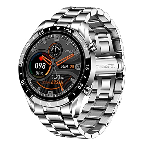LIGE Smartwatch Uomo Sportivo Fitness IP67 Impermeabile Activity Tracker Pressione Sanguigna Frequenza Cardiaca Monitor Cronometro Notifiche Messaggi rologio Intelligente iOS Android